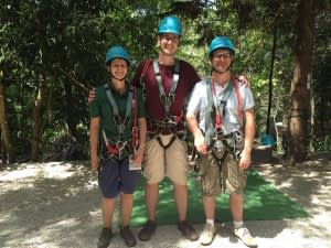 Laura, Jon and Alex at the Sky Gardens