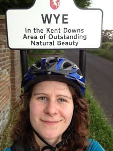 Laura cycling in England