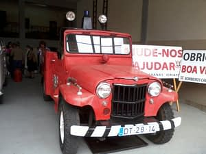 One of the old fire trucks at the chicken festival
